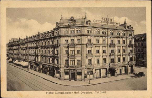 Ansichtskarte postkarte dresden zentrum blick auf das for Dresden hotel zentrum
