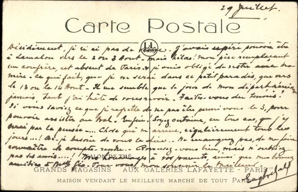 Carte Black Galerie Lafayette.Postcard Paris Grands Magasins Aux Galeries Lafayette Akpool Co Uk
