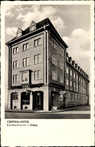 Postcard delmenhorst i oldenburg central hotel inh w for Hotel delmenhorst