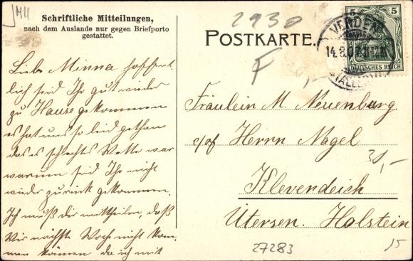 Postcard Verden An Der Aller Lugenstein Ratsapotheke Akpoolcouk
