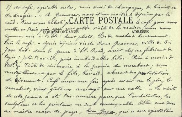 Derrire Carte Postale El Oued Algerien Puits Bascule De La Mosque Des Ouled Ahmed