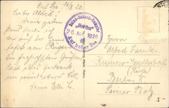 postkarte voller briefmarken
