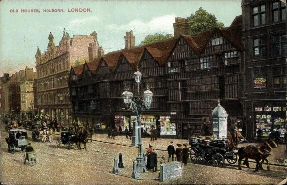 Postcard London City, Holborn, Old Houses, alte | akpool co uk