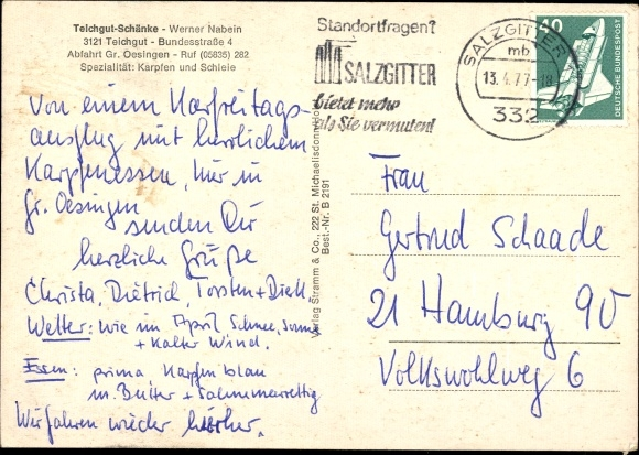 Ansichtskarte / Postkarte Teichgut Wahrenholz | akpool.de