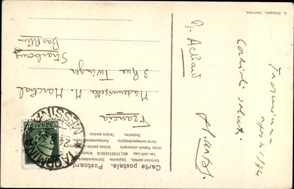 taormina karta Postcard Taormina Sicilia, Stadttor, Pferdefuhre, | akpool.co.uk taormina karta