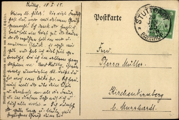 Gedicht Postcard Schäfer Rudolf Die Himmelslichter