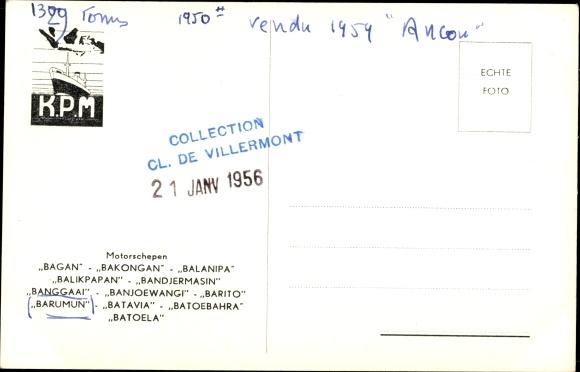 Postcard MS Barumun, KPM | akpool co uk