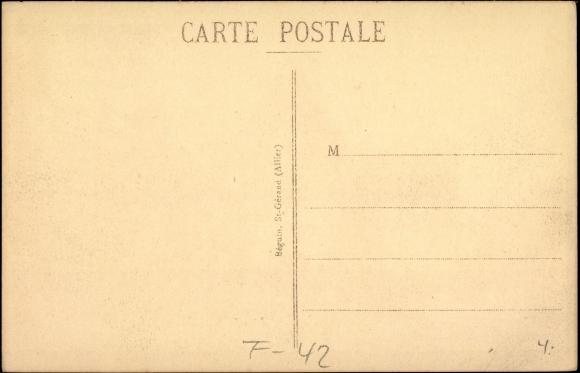 Postcard roanne cpa 42 h tel de ville et monument for Cash piscine isere