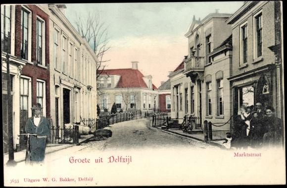 ansichtskarte postkarte delfzijl groningen marktstraat wohnsiedlung. Black Bedroom Furniture Sets. Home Design Ideas