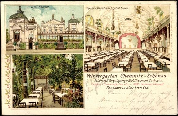 litho chemnitz sch nau wintergarten flora saal total. Black Bedroom Furniture Sets. Home Design Ideas
